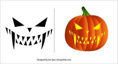 Halloween 2013 Free Scary Pumpkin Carving Patterns / Ideas / Stencils