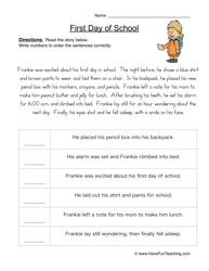 How to Peanut Butter Jelly Sandwich Sequence Worksheet ...
