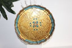 A personal favorite from my Etsy shop https://www.etsy.com/listing/489736858/emerald-jungle-italian-florentine-tray