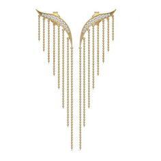 Julie Sandlau wing earrings in gold