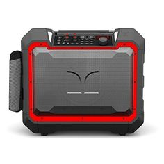 100W High-Power Rechargeable Speaker with Lights Bass Boost ™ Ion Party Boom