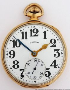 Antique 16s Open Face Less Expensive Knowledgeable 1917 Illinois Bunn Special Railroad Grade Pocket Watch 21j Pocket Watches