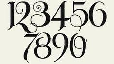Number fonts