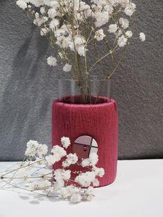 """Vasen - Glasvase """"Upcyc"""" - ein Designerstück von Nadeltasse bei DaWanda Designer, Ottoman, Shops, Chair, Etsy, Furniture, Home Decor, Glass Vase, Tents"""