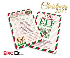 Elf On The Shelf 'Personalized' Official Report Card