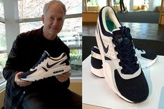 Tinker Hatfield at nike HQ with the brand new Nike Air Max Zeros 2015