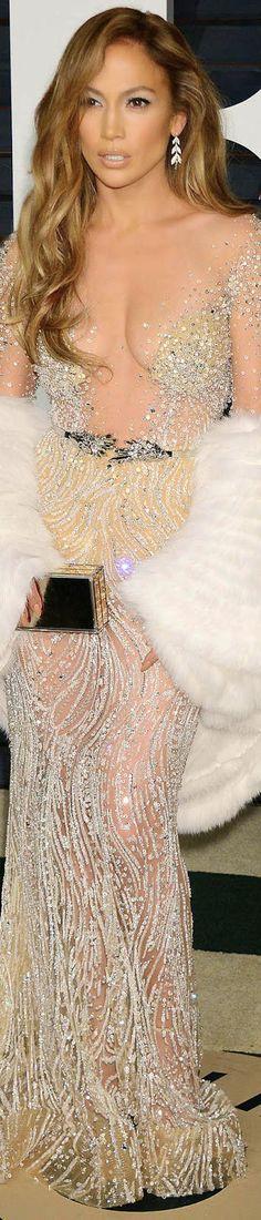 Jennifer Lopez 2015 Vanity Fair Oscar Party / Jennifer Lopez in Zuhair Murad