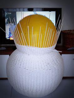 Moje pletení z papíru - Fotoalbum - NÁVOD- NA SNĚHULÁKA