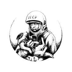 Tatto idea, Gagarin, Laika