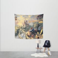 Beauty and the Beast - Tale As Old As Time Wall Tapestry by Elaera Starsley | Society6
