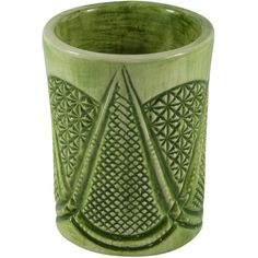 Giovanna La Falce Sicilia Glass in Green (95 CAD) ❤ liked on Polyvore featuring home, home decor, green, handmade home decor, glass home decor, green home decor and green home accessories