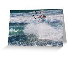 Silver Sparkles in a World of Blue Greeting Card Kitesurfing, Sparkles, Greeting Cards, Waves, World, Silver, Poster, Blue, Outdoor