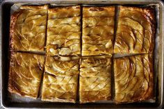 Apple Mosaic Tart With Salted Caramel via Brit + Co.