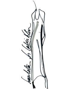 Francisco Costa Calvin Klein Collection Macy's Sketch