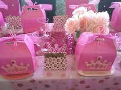 Pink Princess Party Goodie bags - goody bags for kids party - birthday goodie bags - birthday gift ideas - party favors Pink Princess Party, Princess Birthday, Girl Birthday, Princess Party Favors, Birthday Crowns, Princess Crowns, Princesse Party, Birthday Fashion, Cinderella Party