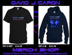 David J Caron Merchandise Design at Dizzyjam Design T Shirt, Shirt Designs, Lyrics, Album, Band, Sweatshirts, Artwork, Fashion, Moda