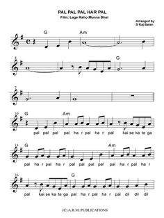This book provides Bollywood Sheet Music for new film songs for violin with Treble, lyrics, Keyboard Sheet Music, Sheet Music Pdf, Easy Piano Sheet Music, Violin Sheet Music, Song Sheet, Song Notes, Music Notes, Saxophone Notes, Violin Songs