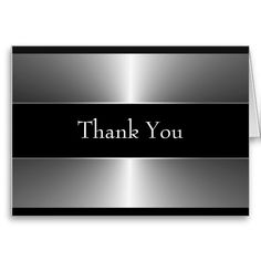 Shop Black Silver Thank You Cards created by The_Thank_You_Store. Thank You Card Template, Thank You Note Cards, Custom Thank You Cards, Custom Greeting Cards, Graduation Thank You Cards, Wedding Thank You Cards, Appreciation Quotes Relationship, Graduation Announcements, Boy Birthday Parties
