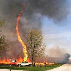 Fire Tornado near Chillicothe