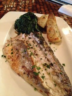 Mediterranean Sea Bass with shallots and green peppercorn Sauce