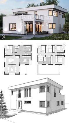 stunning tips on bathroom lighting, Modern House Floor Plans, Modern Bungalow House, Sims House Plans, House Layout Plans, Floor Plans 2 Story, Free House Plans, Small House Floor Plans, Family House Plans, 2 Storey House Design