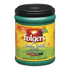 Folgers Simply Smooth Decaf Coffee Canister