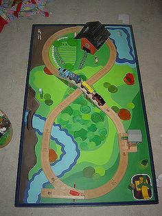 Train table top   Train table I painted for my kids Christma…   Flickr