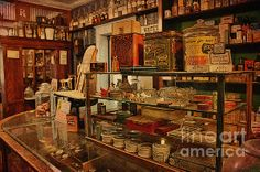 I want life to be like this again! An old interior of a restored General Store from the Museum of the Mountain West in montrose, Colorado.