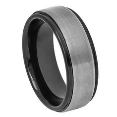 Please Take A Moment To Visit Our Store For More Beautiful Jewelry!    MSRP: $299.99  Our Price: $89.99  Savings: $110.00      Item Number: TR678/WRTG9515  Availability: Usually Ships in 5 Business Days      PRODUCT DESCRIPTION:    Crafted in Durable Tungsten Carbide, this handsome wedding band for him features a flat design with a Satin center and Two Tone Black and Gun-Metal Grey Finish.    Tungsten because of its toughness, affordability, scratch resistance and hypoallergenic properties…
