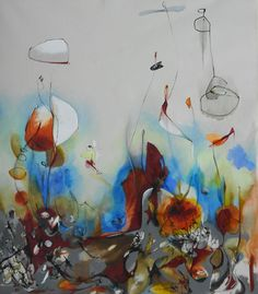 "Saatchi Online Artist Julia Pinkham; Painting, ""Into The Blue"" #art"