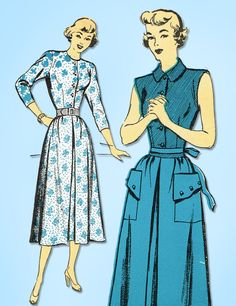 1950s Vintage New York Sewing Pattern 640 Uncut Misses Skirt & Blouse Size 35 B #NewYork