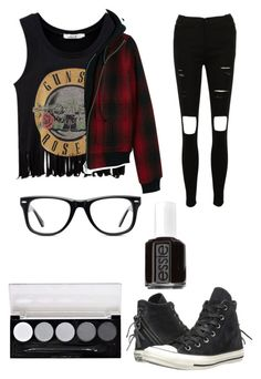 """Untitled #317"" by paige101 ❤ liked on Polyvore featuring R13, Converse, Muse, L.A. Colors and Essie"