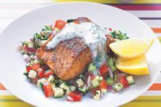 Forellenfilet auf Zucchinisalat ist wirklich sehr schmackhaft. #forelle #fisch #zucchini