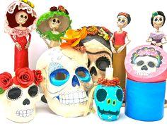 Hilos en nogada, catrina, catrinas, calavera, calaveras, vela, mascara, Frida Kahlo, Dia de Muertos, day of the dead, Mexico