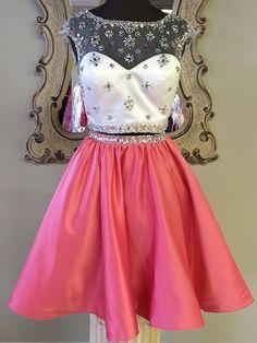 A-line+Scoop+Knee-length+Taffeta+Cocktail+Dresses/Short+Prom+Dress#+ZP300