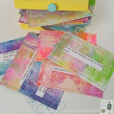 StencilGirl Talk: Magic Box of Cards for Art Journal Fun by Anna Friesen