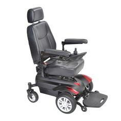 "Drive titanlb18csx23 Titan X23 Front Wheel Power Wheelchair, Vented Captain's Seat, 18"" x 18"""