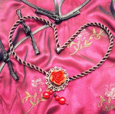 Red Rose Flower Pendant Traditional Asian by TrendyOriental