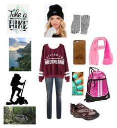 """""""Hike with friends"""" by princesshlb ❤ liked on Polyvore featuring Merrell, Casetify, adidas, OBEY Clothing, Maison Margiela and Calypso St. Barth"""