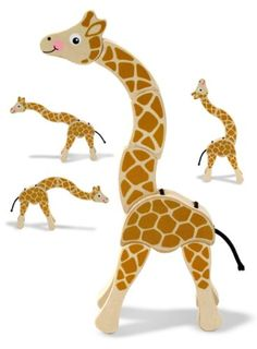 Amazon.com: Melissa & Doug Giraffe Grasping Toy: Toys & Games