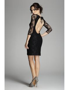 Dress to Express - Online Style Clothing, Shoes & Jewelry Dress Skirt, Bodycon Dress, Nice Dresses, Dresses For Work, Dressing, Fashion Dresses, High Neck Dress, Couture, Little Black Dresses