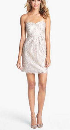 Gorgeous sheath dress. Give me some straps and call it a wedding dress