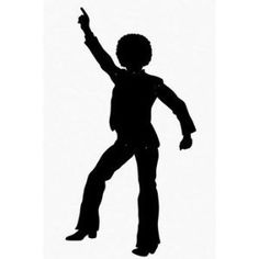 Amazon: Disco Dancing Silhouette Jointed Cutout