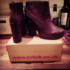 schuh Get Up burgundy ankle boots  @miss_morphinex