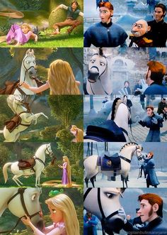 This is literally what I thought of when I saw Frozen. He looks so much like Maximus! <---- Duh! Didn't you know that Maximus and this random Arendelle Royal Guard horse are cousins? So, of course they look alike! (j/k)