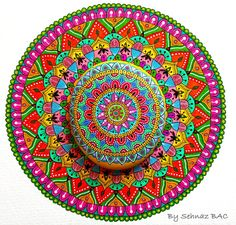My mandalas :) On painted stone and on paper