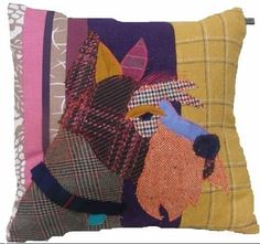 Duncan theScottiecushion, made with a combination of vintage andmodern upholstery fabrics.  �70.00