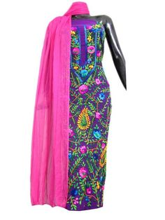 Gorgeous handembroidered georgette kurta dupatta set. Get quality ethnic products and great service with GiftPiper.com. Pay COD, 15 day returns (Resellers are welcome- WhatsApp us on 9902488133) 15% Discount on Orders Above Rs 1000 with voucher code-FACEBOOK . Click on http://www.giftpiper.com/product/georgette-champa-work-kurta-dupatta-set-purplepink