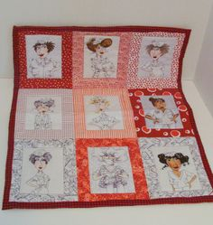 Hand Made Nurses Quilted Wall Hanging Home Decor Red by ItsOurTime, $38.00