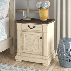 Birch Lane: Farmhouse & Traditional Furniture - Made to Last 3 Drawer Nightstand, Dresser Drawers, Nightstands, Open Shelving, Shelves, Bedside Storage, Lattice Design, End Tables With Storage, Drawer Fronts